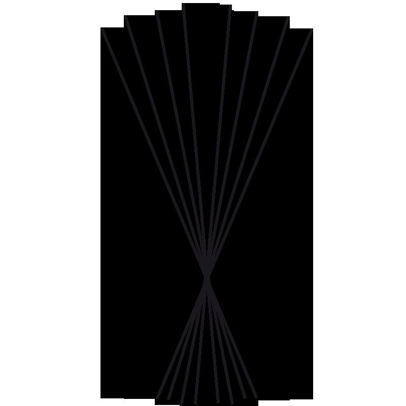 Black sticks 27cm